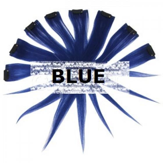 clip in kleuraccent blauw