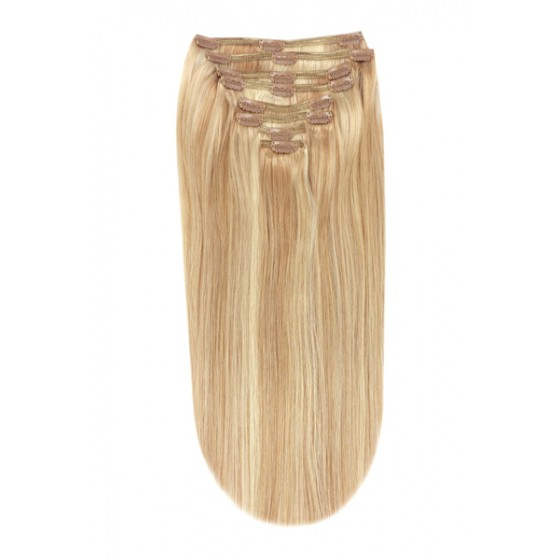 Remy Human Hair extensions Double Weft straight - bruin / blond 12/16/613#
