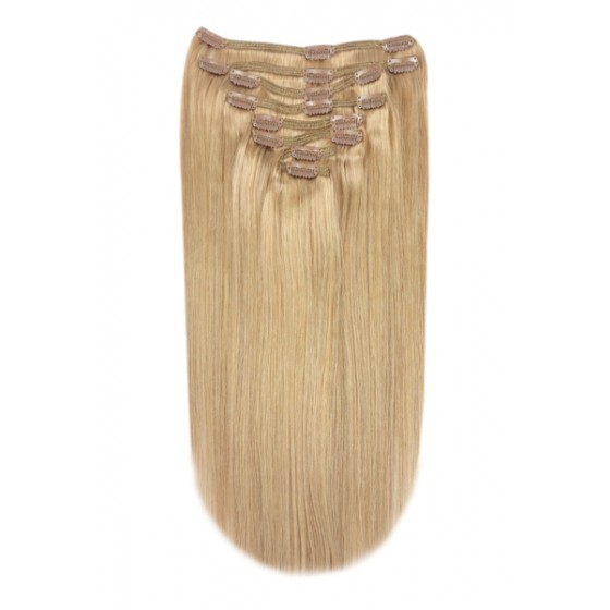 Remy Human Hair extensions straight - blond 14#