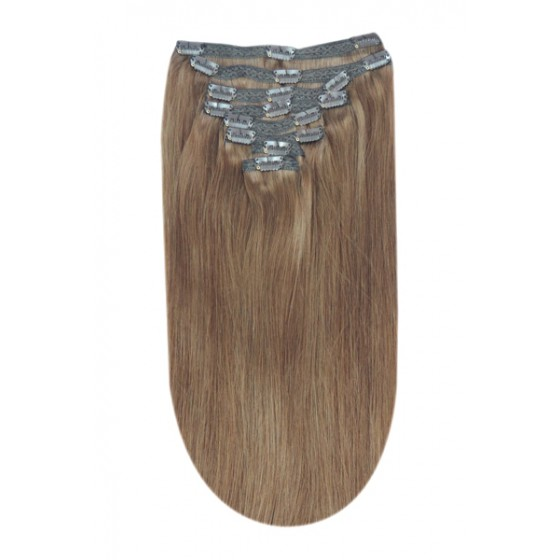 Remy Human Hair extensions Double Weft straight - blond 14#