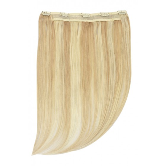Remy Human Hair extensions Quad Weft straight - blond 16/613#