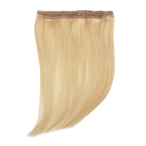 Remy Human Hair extensions Quad Weft straight - blond 16#