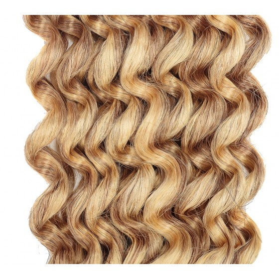 Clip-in Curly Brown Blonde Mix #18/613