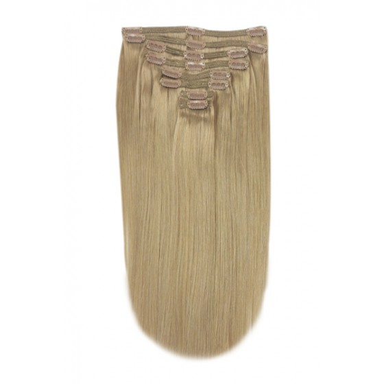 Remy Human Hair extensions straight - blond 18#