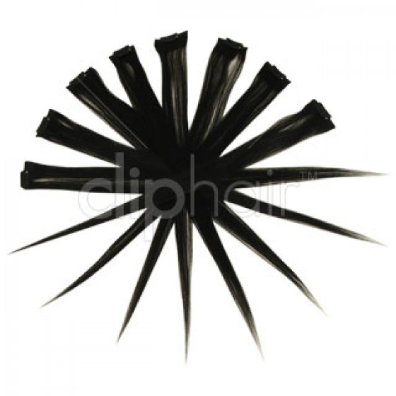 Remy Human Hair Highlights zwart 1#