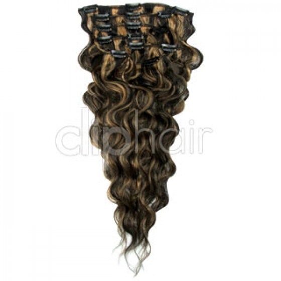 Clip-in Wavy Natural Black/Blonde Mix #1B/27