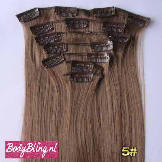 Brazilian straight hair extensions 8#