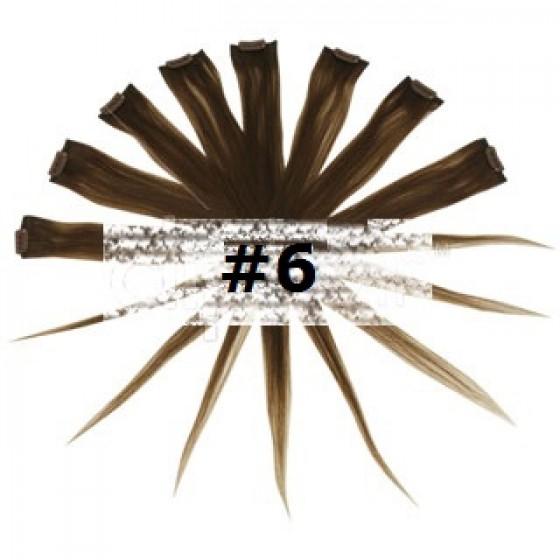 Remy Human Hair Highlights bruin 6#