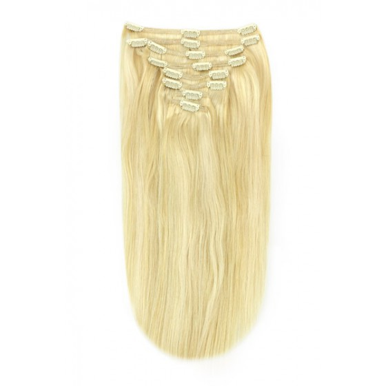 Remy Human Hair extensions straight - blond 22/613