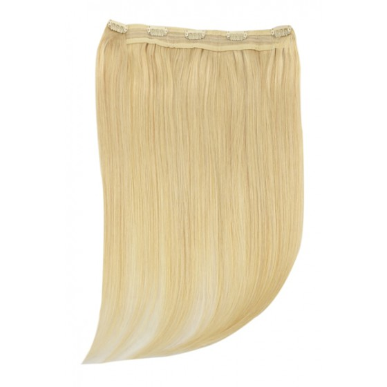 Remy Human Hair extensions Quad Weft straight - blond 22#