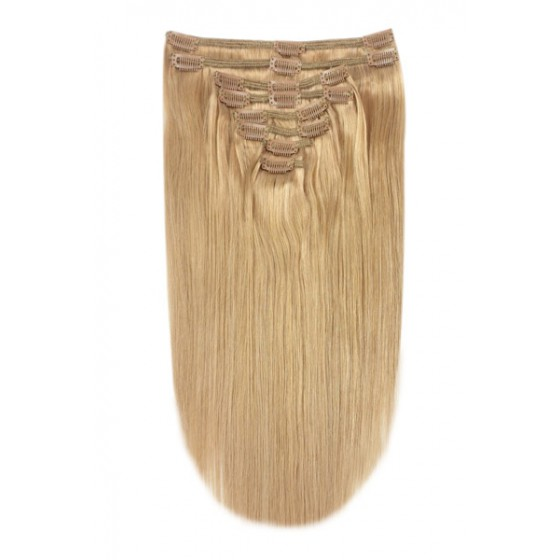 Remy Human Hair extensions straight - blond 27#