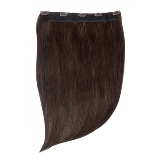 Remy Human Hair extensions Quad Weft straight - bruin 2#