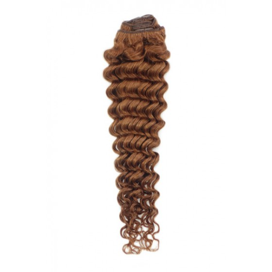 Remy Human Hair extensions curly - rood 30#