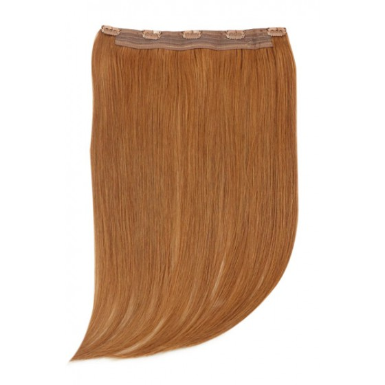 Remy Human Hair extensions Quad Weft straight - rood 30#