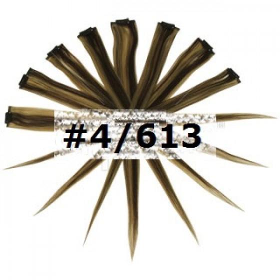 Remy Human Hair Highlights bruin / blond #4/613