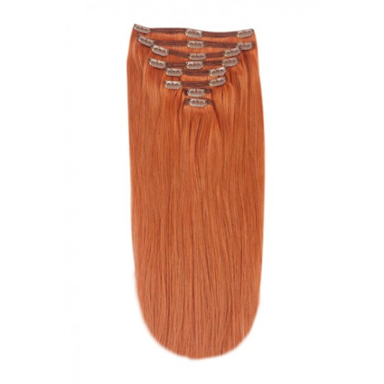 Remy Human Hair extensions Double Weft straight - rood 350#