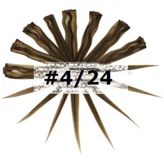 35. Remy Clip in Highlights Medium Brown/Blonde Mix (#4/24)