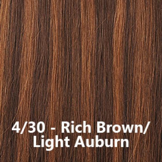 Flip-In Hair Lite 4/30 Rich Brown / Light Auburn