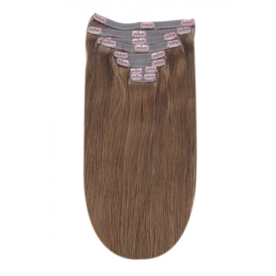 Remy Human Hair extensions Double Weft straight - bruin 5#