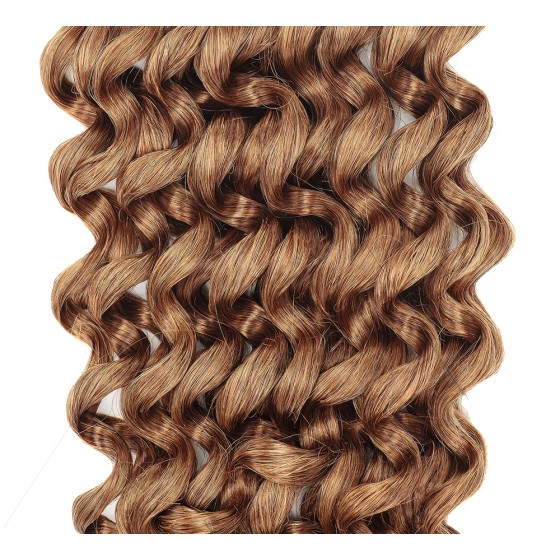 Clip-in Curly Light Brown #6