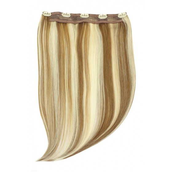 Remy Human Hair extensions Quad Weft straight - bruin / blond 6/613#