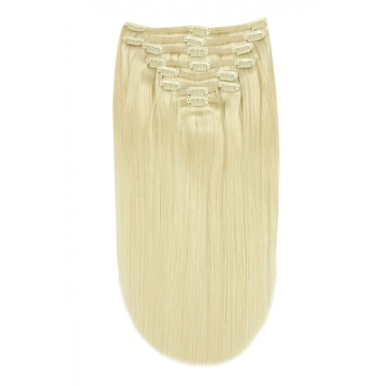 Remy Human Hair extensions straight - blond 60#