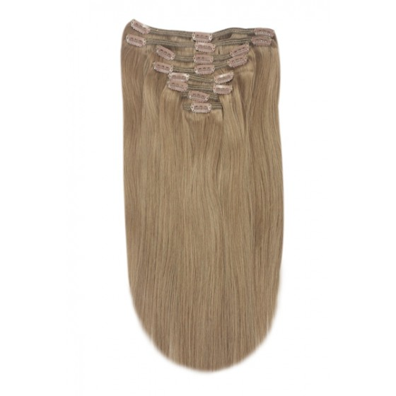 Remy Human Hair extensions straight - brown 8#