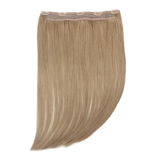 Remy Human Hair extensions Quad Weft straight - bruin 8#