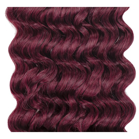 Clip-in Curly Mahogany Red #99J