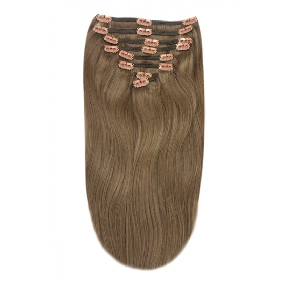 Remy Human Hair extensions Double Weft straight - bruin 9#