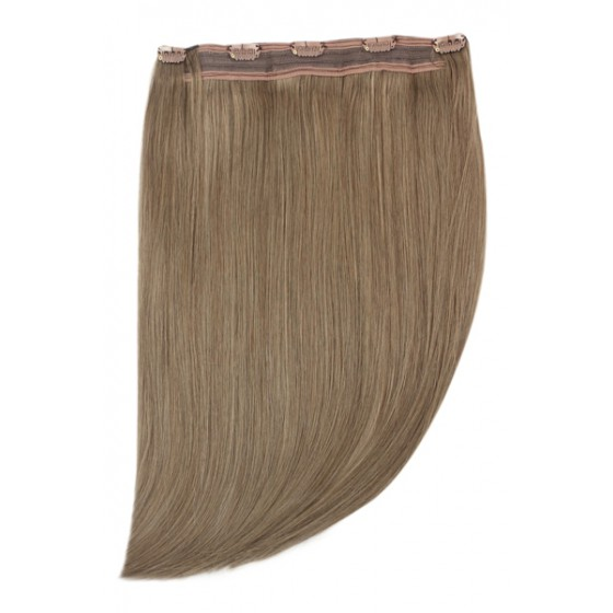 Remy Human Hair extensions Quad Weft straight - bruin 9#