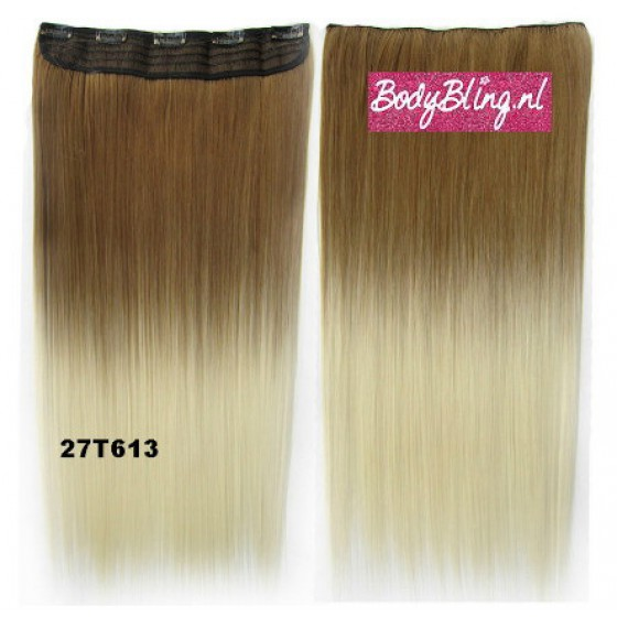 Brazilian clip in hair extension 27T613