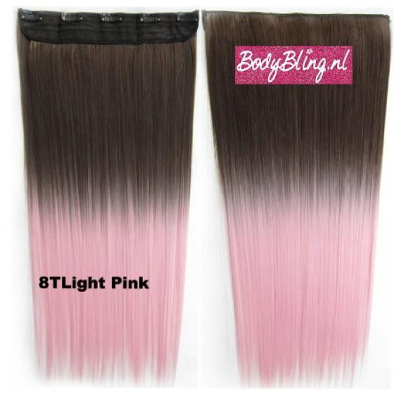 68 Brazilian clip in hair extension 8TLichtPink