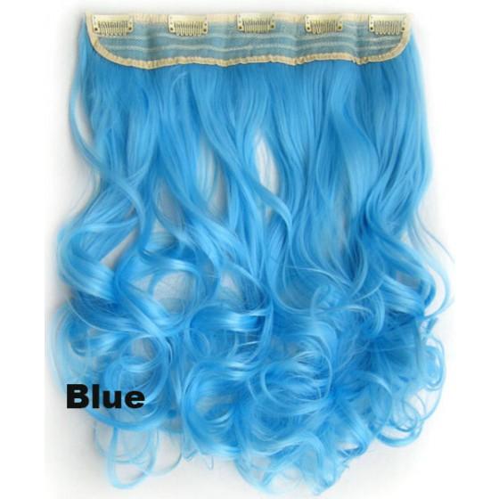 Clip in 1 baan wavy Blue