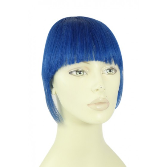 Remy Human Hair Clip-in Pony blue - blauw