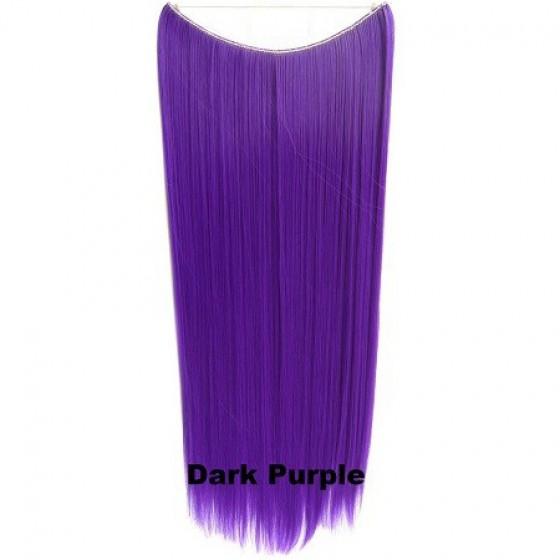 Brazilian Wire Hair Straight Dark Purple