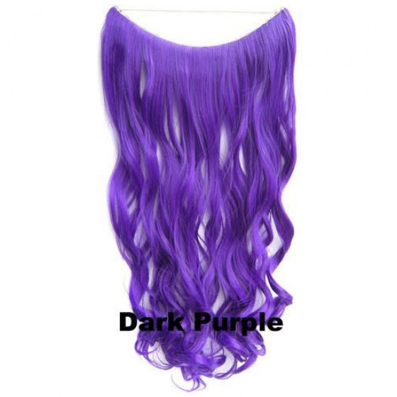 Wire hair wavy Dark Purple