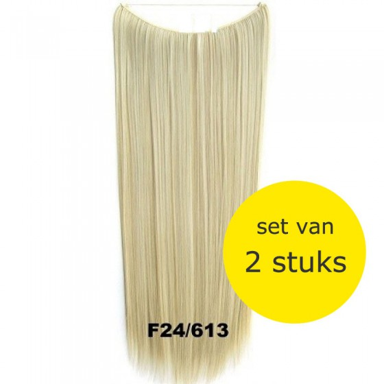 Wire hair straight F24/613 - set van 2 stuks