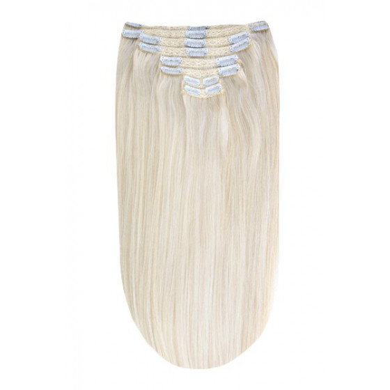 Remy Human Hair extensions Double Weft straight - Ice Blond