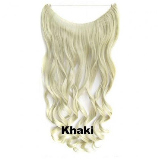 Wire hair wavy Khaki