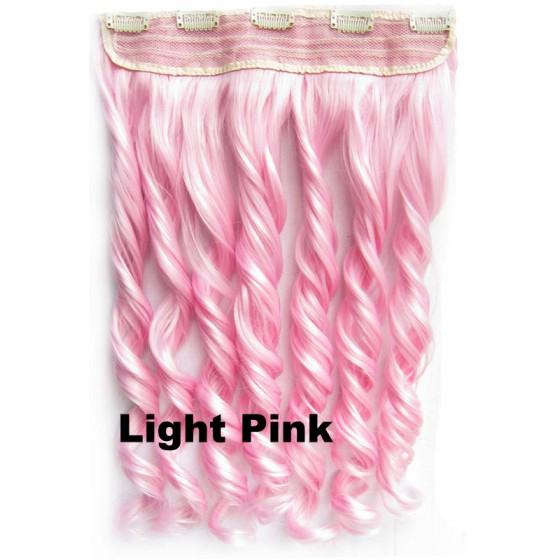 Clip in 1 baan wavy Light Pink