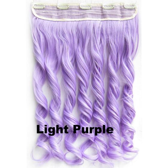 Clip in 1 baan wavy Light Purple