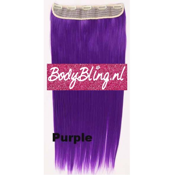 Clip in 1 baan straight Purple