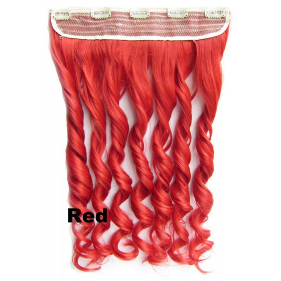 Clip in 1 baan wavy Red