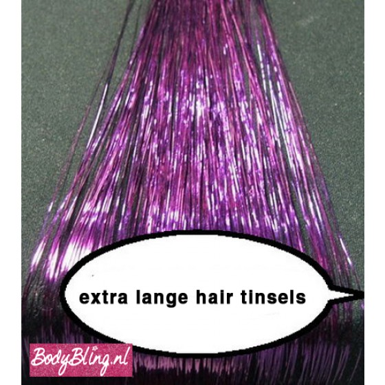 Hair Tinsels Shiny purple #19