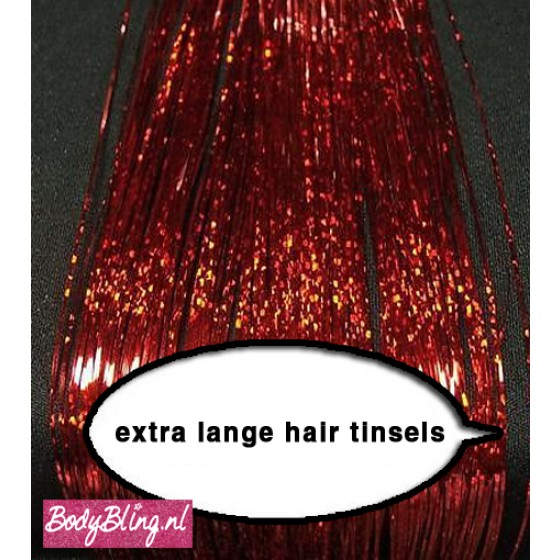 Hair Tinsels Sparkling red #25