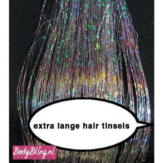 Hair Tinsels Sparkling silver #2