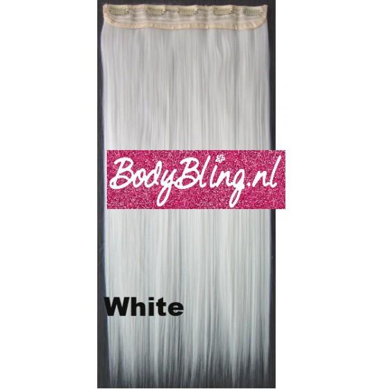 36 Brazilian clip in hair extension White