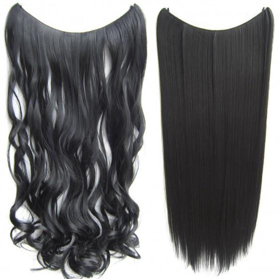 Wire hair wavy + straight - zwart 1#