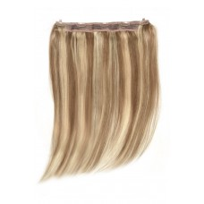 Remy Human Hair extensions Quad Weft straight - bruin / blond 10/16#